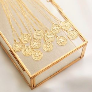 Zodiac Necklace | Gold Plated 925 Silver